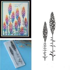 Creative Retro Hand Account Transparent Seal DIY Student Manual Decoration Material, Style:Two Flowers