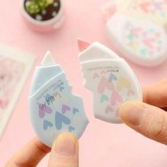 2 PCS/Pair Love Heart Correction Tape Kawaii Stationery Office School Supplies) (Length: 5 meters (one card total 10 meters))