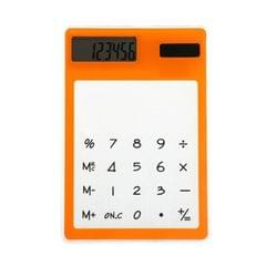 Ultra Slim Mini Transparent Solar Powered LCD Touch Screen 8 Digit Calculator (Orange)