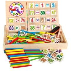 Early Childhood Education Wooden Multi-functional Digital Operation Box Digital Stick Baby Learning Box Desktop Puzzle Toy (As Show)