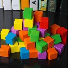 100 PCS / Set Colorful  Elementary School Mathematics Teaching Aid Cube Cube Mold Stereo Recognition Graphics Tool, Size:2cm