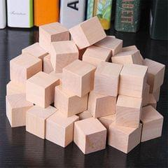 100 PCS / Set Wood Color  Elementary School Mathematics Teaching Aid Cube Cube Mold Stereo Recognition Graphics Tool, Size:1cm