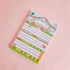 2 PCS Cute Cartoon Bread Bunny Note Book Hand Memo Material Notes Can Tear Memo Portable Notepad, Pages:80? (Green Games)