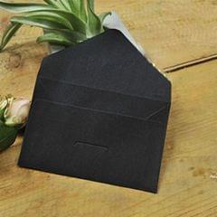 10 PCS Creative Vintage Kraft Business Card Storage Envelope (Black)