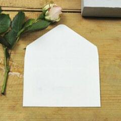 10 PCS Creative Vintage Kraft Business Card Storage Envelope (White)