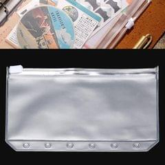 3 PCS Bill Bag Business Card Pull-edge Loose-leaf Pocket Insert PVC Zipper Storage Bag A7 S