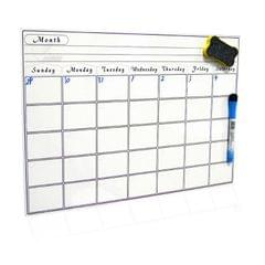 Magnetic Monthly Planner Refrigerator Magnet PET Magnetic Soft Whiteboard, Size: 29.7cm x 42cm (White)