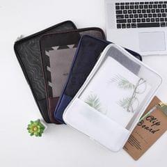 6 PCS Translucent Mesh Zipper File Bag Special Stationery Storage Bag For Student Exams Random Colour