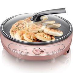 2 PCS Household Electric baking pan Cake Machine Fried Pan BBQ Pancake Pan (Pink)