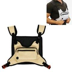 Multifunctional Outdoor Sports and Leisure Chest Bag Fitness Vest Bag (Khaki)