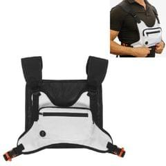Multifunctional Outdoor Sports and Leisure Chest Bag Fitness Vest Bag (White)