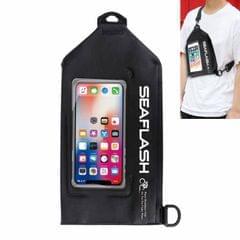 SEAFLASH Waterproof Riding Bag PVC Sports Waist Bag Crossbody Swimming Bag Drifting Waterproof Bag (Black)