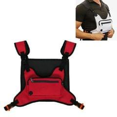 Multifunctional Outdoor Sports and Leisure Chest Bag Fitness Vest Bag (Red)