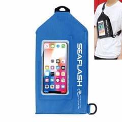 SEAFLASH Waterproof Riding Bag PVC Sports Waist Bag Crossbody Swimming Bag Drifting Waterproof Bag (Blue)