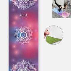 Yoga Mat Indoor Fitness Exercise Mat Ultra Thin Non Slip Sweat Absorbent Folding Portable Mat, Size:183 x 65cm (Datura Flower Without Colloidal Particles)