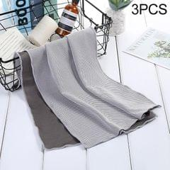 3 PCS Absorbent Polyester Quick-drying Breathable Cold-skinned Fitness Sports Portable Towel, Package:30x100 Clasp Cup (Grey)