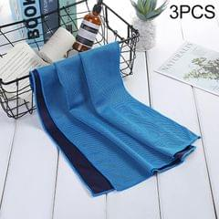 3 PCS Absorbent Polyester Quick-drying Breathable Cold-skinned Fitness Sports Portable Towel, Package:30x100 Clasp Cup (Light Blue)
