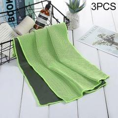 3 PCS Absorbent Polyester Quick-drying Breathable Cold-skinned Fitness Sports Portable Towel, Package:30x100 Clasp Cup (Green)