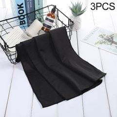 3 PCS Absorbent Polyester Quick-drying Breathable Cold-skinned Fitness Sports Portable Towel, Package:30x100 Clasp Cup (Black)