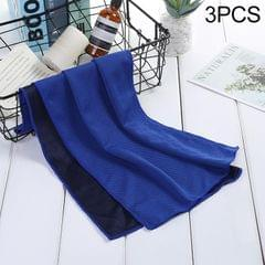 3 PCS Absorbent Polyester Quick-drying Breathable Cold-skinned Fitness Sports Portable Towel, Package:30x100 Clasp Cup (Dark Blue)