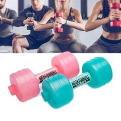 Water Injection Plastic Dumbbell Barbell Fitness Equipment for Ladies (Random Color Delivery)