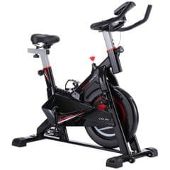 CY-S703 Indoor Silent Spinning Bike Fitness Bicycle with Adjustable Seat / Handle & Beverage Holder & Mobile Phone / Tablet PC Holder & LCD Monitor, Bearing Weight: 120kg