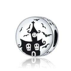 S925 Sterling Silver Ghost Castle Beads DIY Bracelet Necklace Accessories
