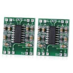 2 PCS LandaTianrui LDTR-WG0127 DC 5V D-level Mini Digital Amplifier Board (Green)