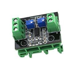 Current to Voltage Module 4-20mA to 0-10V Isolation Transmitter Signal Converter with Green Base