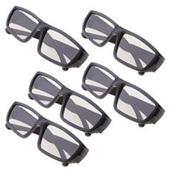 5 Pairs of Universal Passive 3D Glasses for All Passive 3D TVs Cinema and Projectors Such As for RealD Toshiba Panasonic Sony TVs Monitor Black