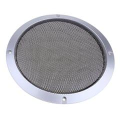 8 Inch Speaker Grills Cover Case with 4 pcs Screws for Speaker Mounting Home Audio DIY -225mm Outer Diameter Silver