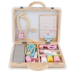 15 Pieces Wooden Doctor Nurse Box Carry Case Children Role Playing Set Kids Educational Toy Play Activity