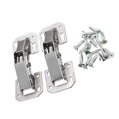 Pair of 4 Inches Easy Mount Concealed Kitchen Cabinet Furniture Sprung Door Hinges