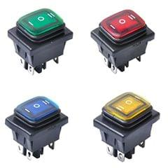 4pcs 6 Pin On/Off/On 3 Position Rocker Power Switch with Backlight