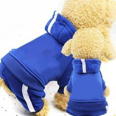 2 PCS Pet Dog Clothes For Dogs Overalls Pet Jumpsuit Puppy Cat Clothing For Dog Coat Thick Pets Dogs Clothing, Size:M (Blue)