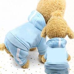 2 PCS Pet Dog Clothes For Dogs Overalls Pet Jumpsuit Puppy Cat Clothing For Dog Coat Thick Pets Dogs Clothing, Size:M (Sky Blue)