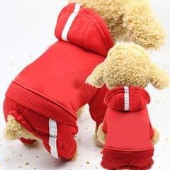 2 PCS Pet Dog Clothes For Dogs Overalls Pet Jumpsuit Puppy Cat Clothing For Dog Coat Thick Pets Dogs Clothing, Size:M (Red)