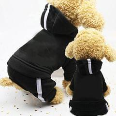 2 PCS Pet Dog Clothes For Dogs Overalls Pet Jumpsuit Puppy Cat Clothing For Dog Coat Thick Pets Dogs Clothing, Size:M (Black)