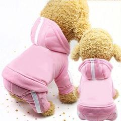 2 PCS Pet Dog Clothes For Dogs Overalls Pet Jumpsuit Puppy Cat Clothing For Dog Coat Thick Pets Dogs Clothing, Size:M (Pink)