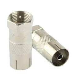 Coaxial RF F Male to ICE Female Adapter (Silver)