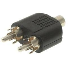 RCA Female to 2 RCA Male Adapter (Black)
