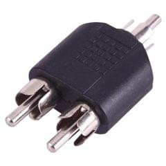 RCA Male to 2 RCA Male Adapter (Black)