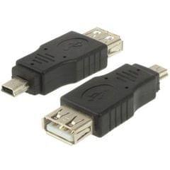 USB 2.0 Female to Mini USB 5Pin Male Adapter (Black)