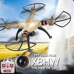SYMA X8HW 4-Channel 2.4GHz Radio Control Quadcopter with 0.3MP WiFi Camera & 6-axis Gyro & LED Light (Gold)