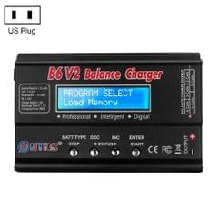 HTRC B6 V2 Balance Charger Intelligent Model Airplane Lithium Battery Charger, US Plug