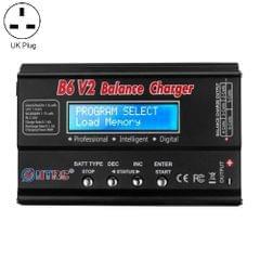 HTRC B6 V2 Balance Charger Intelligent Model Airplane Lithium Battery Charger, UK Plug
