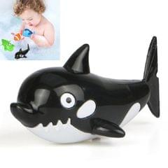 10 PCS Baby Bath Toys Playing in Water Swimming Clockwork Toys (Black Small Whale)