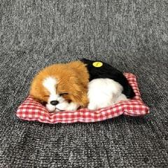 Simulation Will Call the Sleeping Dog Ornaments Toy Creative Doll Children Gift (Black Yellow)