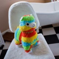 Soft Cotton Rainbow Alpaca Stuffed Toy Doll Rainbow Animals Toys, Size:20CM (Ordinary alpaca)