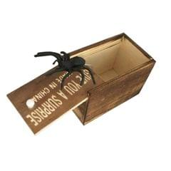 3 PCS April Fools Day Gift Wooden Prank Toy Spoof Spider Box (Letter)